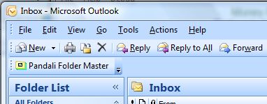 Screenshot - toolbar in Outlook